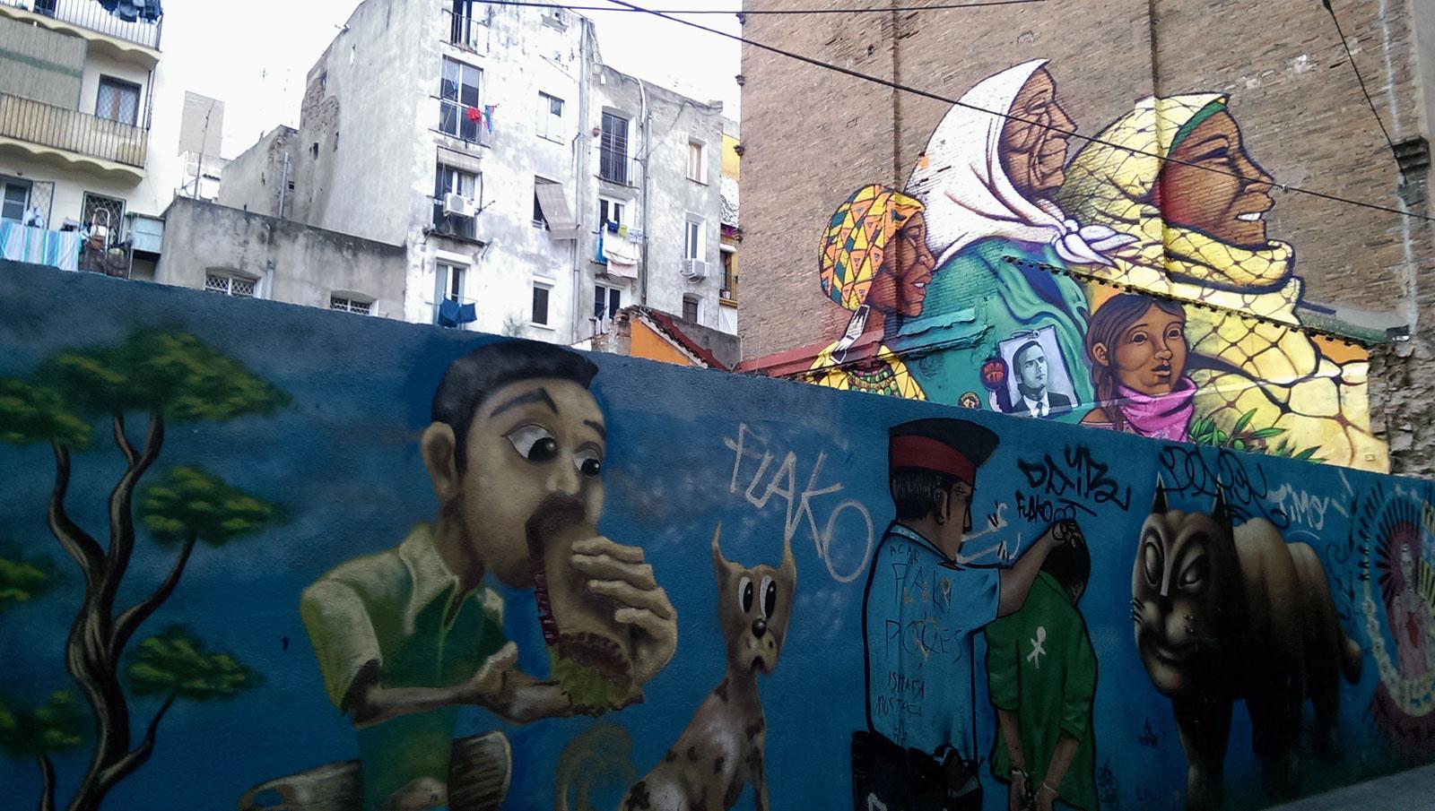 Ágora Juan Andrés. Calle Aurora, Barcelona