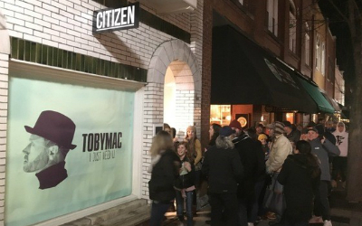 TobyMac fans line up for single release party.
