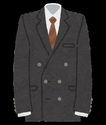 ダブルスーツのイラスト(男性用)