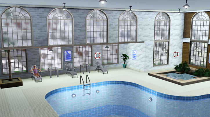 My sims 3 blog h two the o indoor pool remade by macthekat for Pool design sims 3
