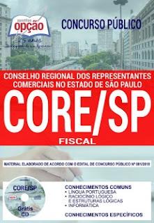 Baixar Apostila Concurso CORE SP 2018 PDF - Fiscal