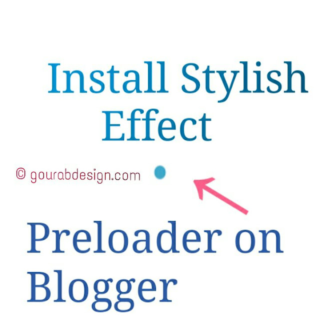 How To Install Stylish Preloader Effect On Blogger