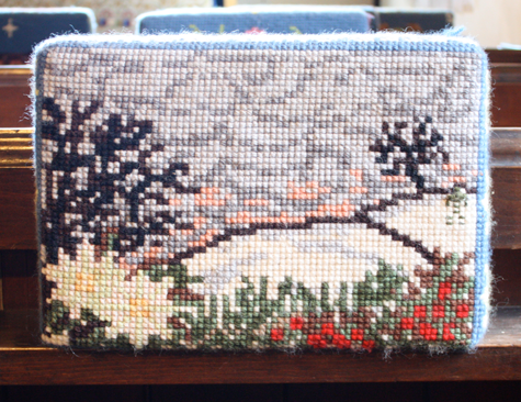 Kate Whiteman, kneeler, hassocks, St Peter's church, Firle