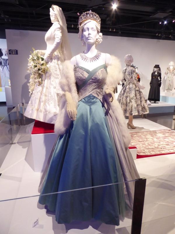 Claire Foy Crown Queen Elizabeth ballgown