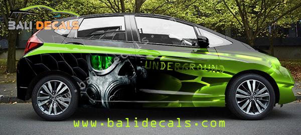 Desain Cutting Sticker Honda Jazz Green Mask Bali Decals