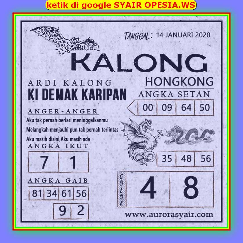 Kode syair Hongkong Selasa 14 Januari 2020 152