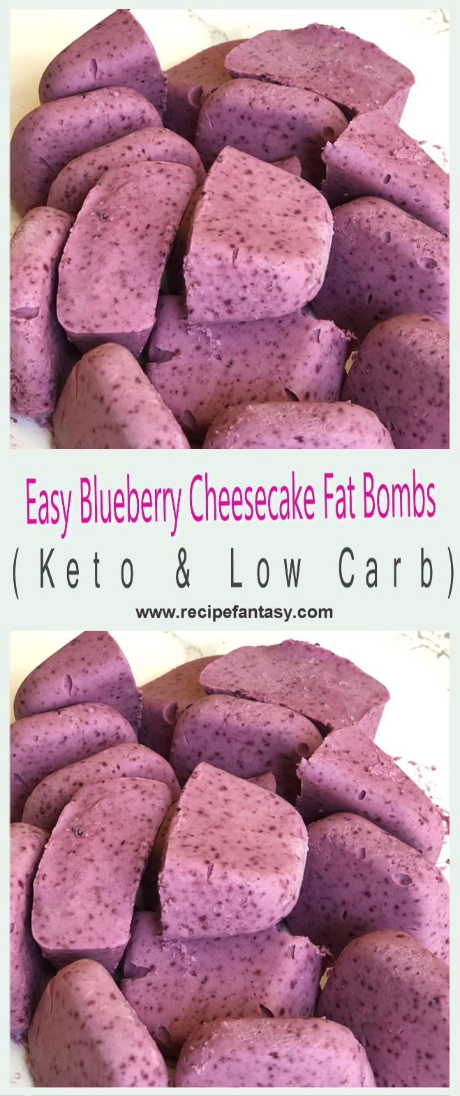 Easy Blueberry Cheesecake Fat Bombs (Keto & Low Carb)