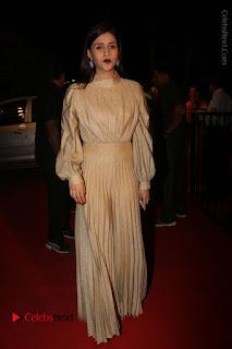 Actress Mannara Chopra Stills in Cream Colour Long Dress at Gemini TV Puraskaralu 2016 Event  0052.JPG