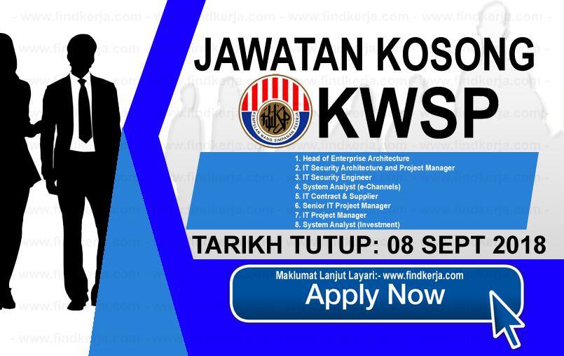 Jawatan Kerja Kosong KWSP - Kumpulan Wang Simpanan Pekerja logo www.ohjob.info www.findkerja.com september 2018
