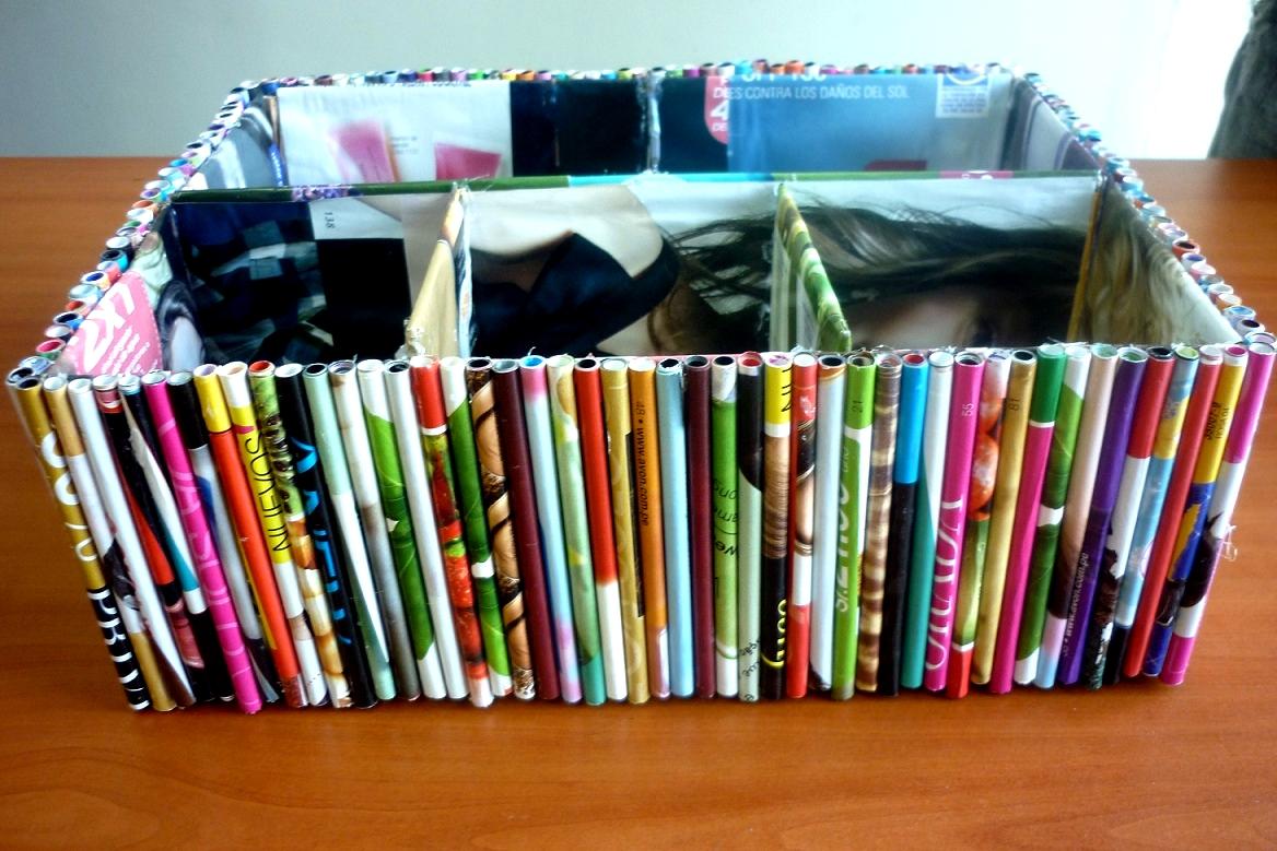 Manualidades Creativas Manualidades Organizador Con Hojas Recicladas