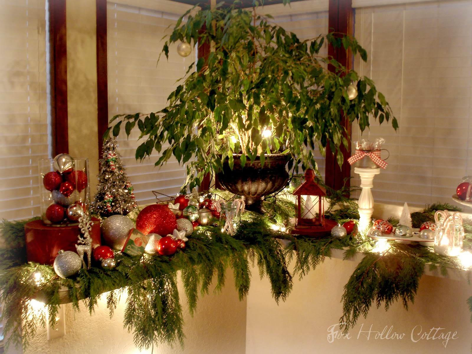 Thrifty Christmas Decorating with Cedar Boughs   Fox Hollow Cottage Thrifty Christmas Decorating with Cedar Boughs