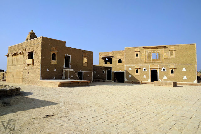The house of the village head (right), Kuldhara village