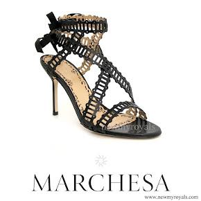 Crown Princess Victoria wore MARCHESA Sarah Sandals