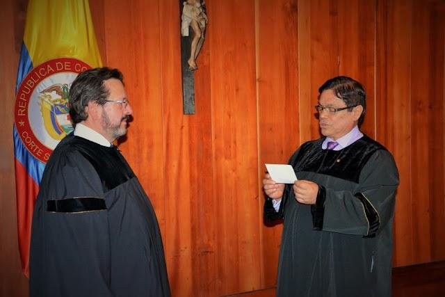 Magistrado Rigoberto Echeverri Bueno, nuevo presidente de la Corte Suprema