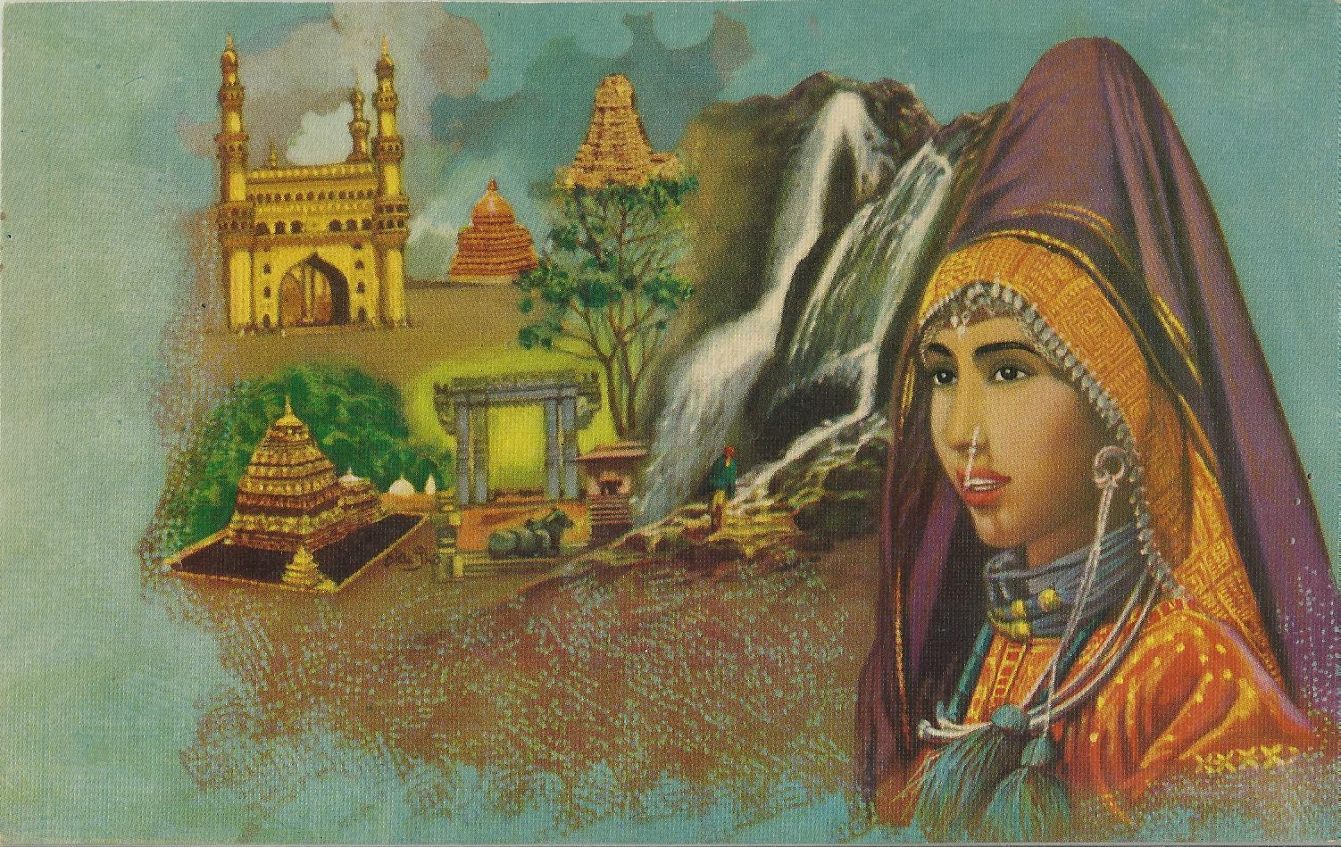 Heritage of India: Cultural Heritage of India vintage art prints
