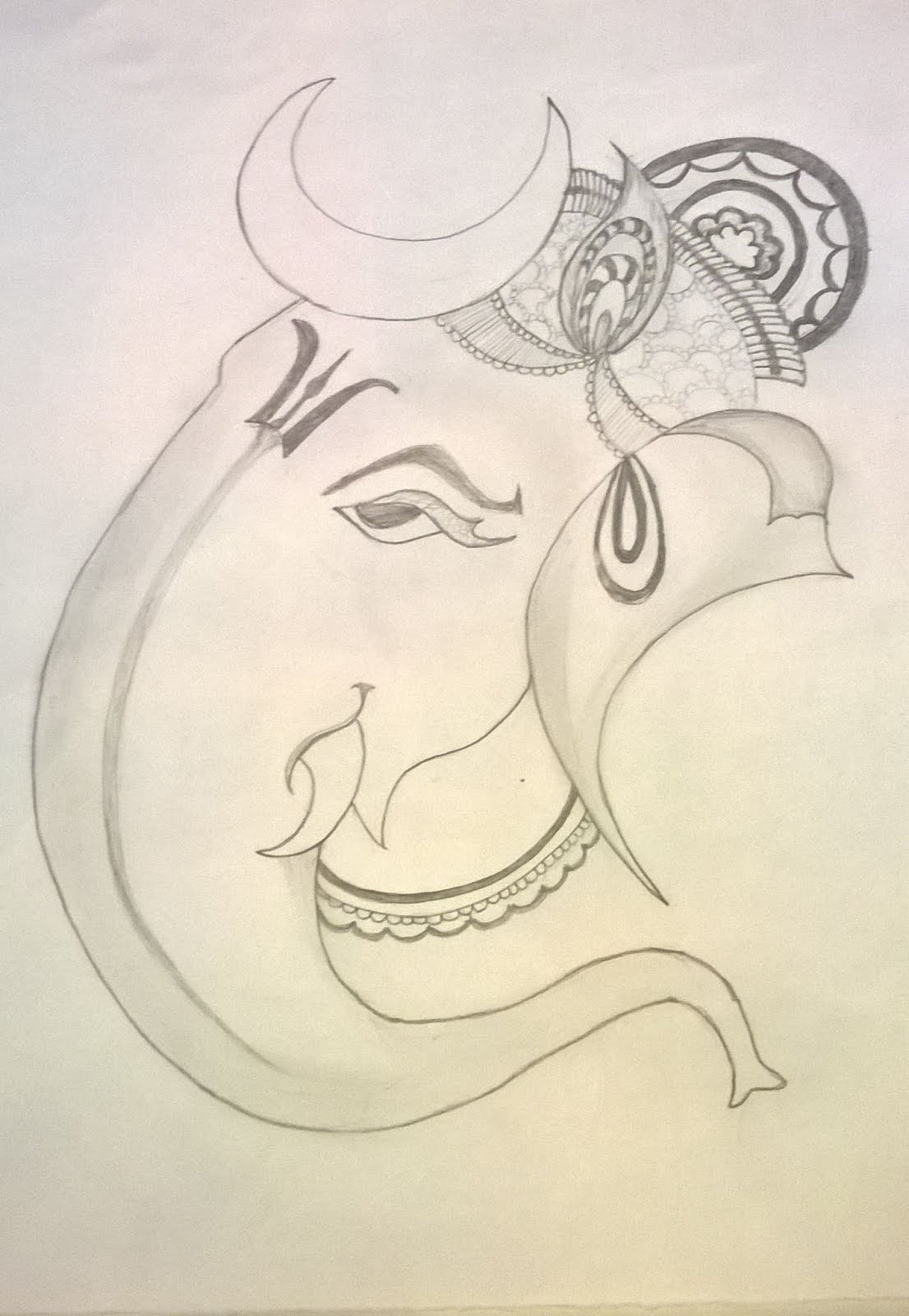My pencil art vinayagar