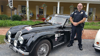 XK120 FHC with police protection.
