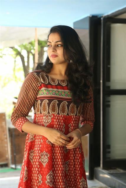Nikhila Vimal cute in churidar