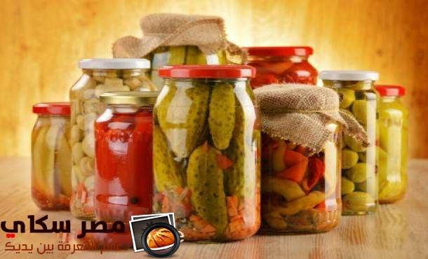 طريقة وخطوات عمل خليط الخضروات المخللة Vegetable mixture