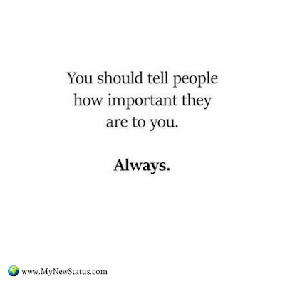 You should tell people how important they are to you.    Always #InspirationalQuotes #MotivationalQuotes #PositiveQuotes #Quotes #thoughts