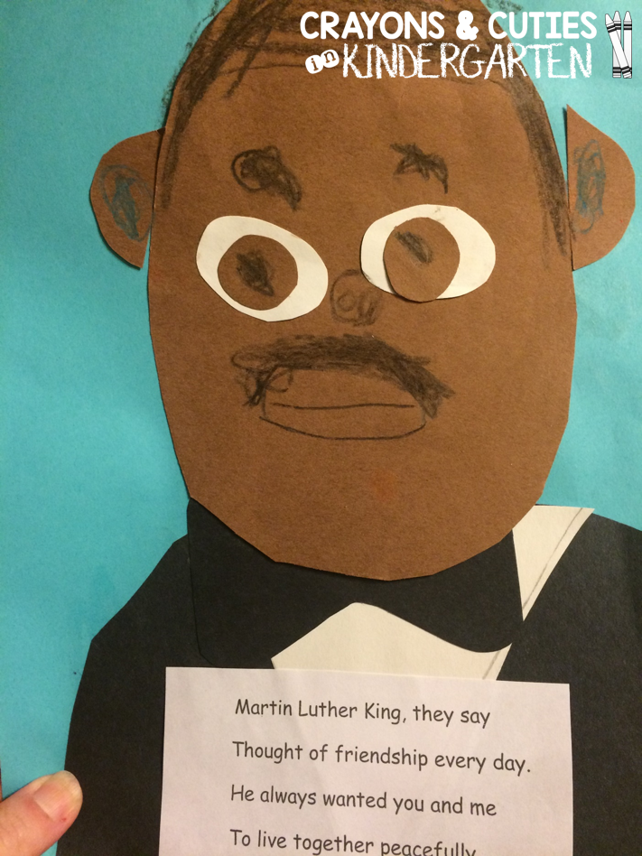 martin luther king craft ideas crayons amp cuties in kindergarten martin luther king jr craft 6905
