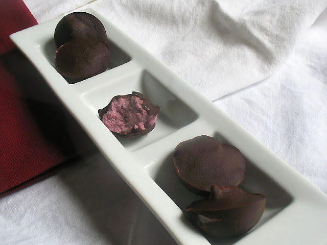Cream Filled Raspberry Chocolates