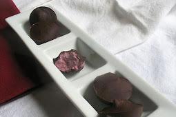 Cashew-Cream Filled Raspberry Chocolates
