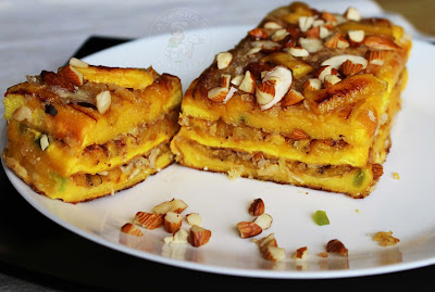 a layered bread and plantain sweet yummy snack recipe tasty snack for a crowd appetizers ayeshas kitchen snacks recipes