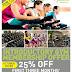 25% OFF Gym membership