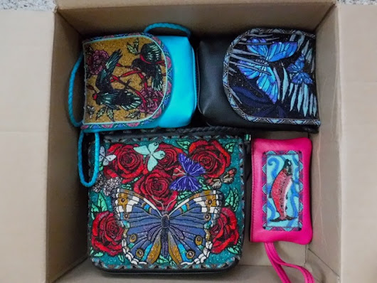 BOX OF BEADWORK