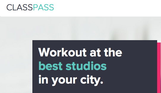 Classpass Fitness Classes  Available In Store