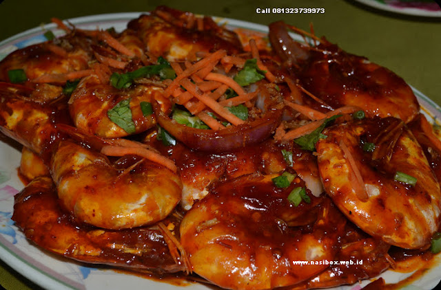 Resep Udang Goreng Saus Tiram nasi box walini ciwidey