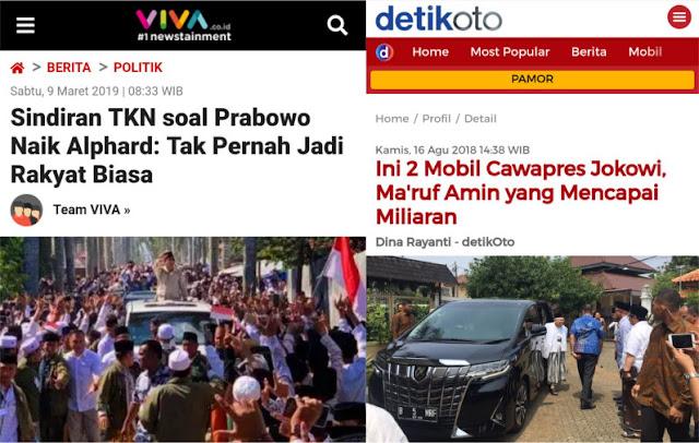 Ngomongin Prabowo Naik Alphard, Ternyata Malah Nampol ke Muka Sendiri