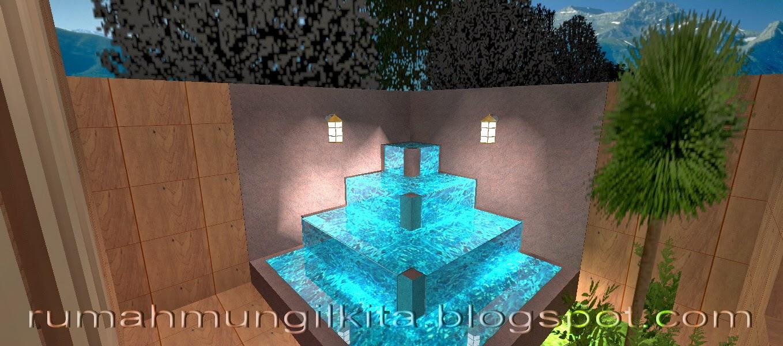 kolam mungil sederhana bertigkat