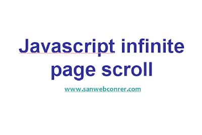 Javascript infinite page scroll