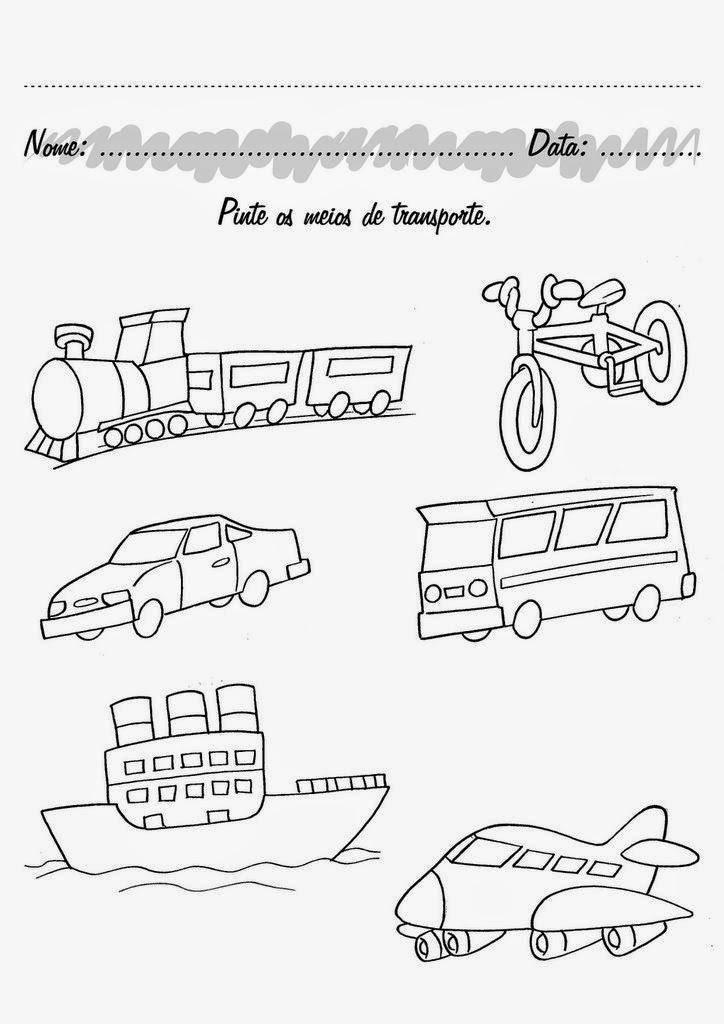 Semana Do Transito Atividades Sobre Transito E Meios De