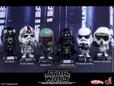 Star Wars: The Original Trilogy Cosbaby Vinyl Figures by Hot Toys - Star Wars Original Trilogy Cosbaby Collectible Set