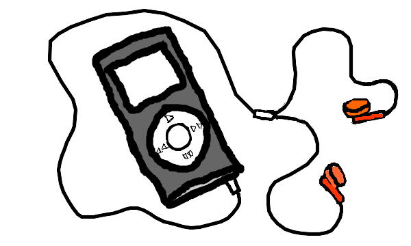 Image Gallery earphones drawing