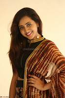 Lasya looks super cute in black choli Saree at Raja Meru Keka Press Meet ~  Exclusive 086.JPG