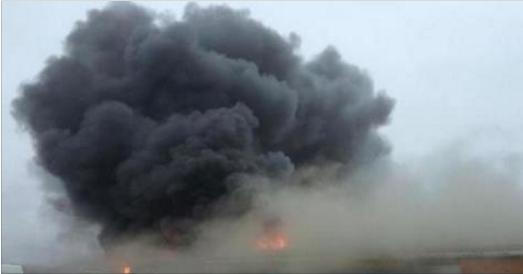 FLASH : Voici ce qu'il se passe: la fumée est visible depuis l'E42!