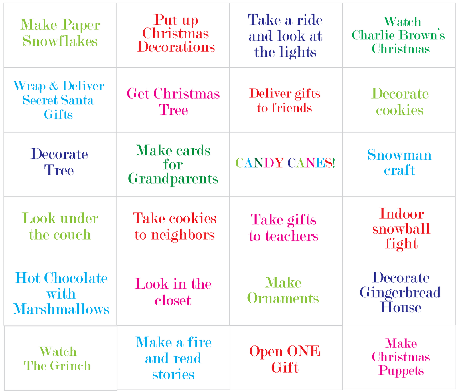 List 12 Days Of Christmas Worksheet