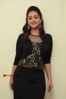 Telugu Actress Manasa Manohar Stills in Black Long Dress at Naku Nene Thopu Turumu Trailer Launch  0065.JPG