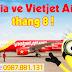 Giá vé máy bay Vietjet Air tháng 8
