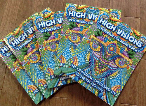 high visions psychedelic coloring book - Psychedelic Coloring Book