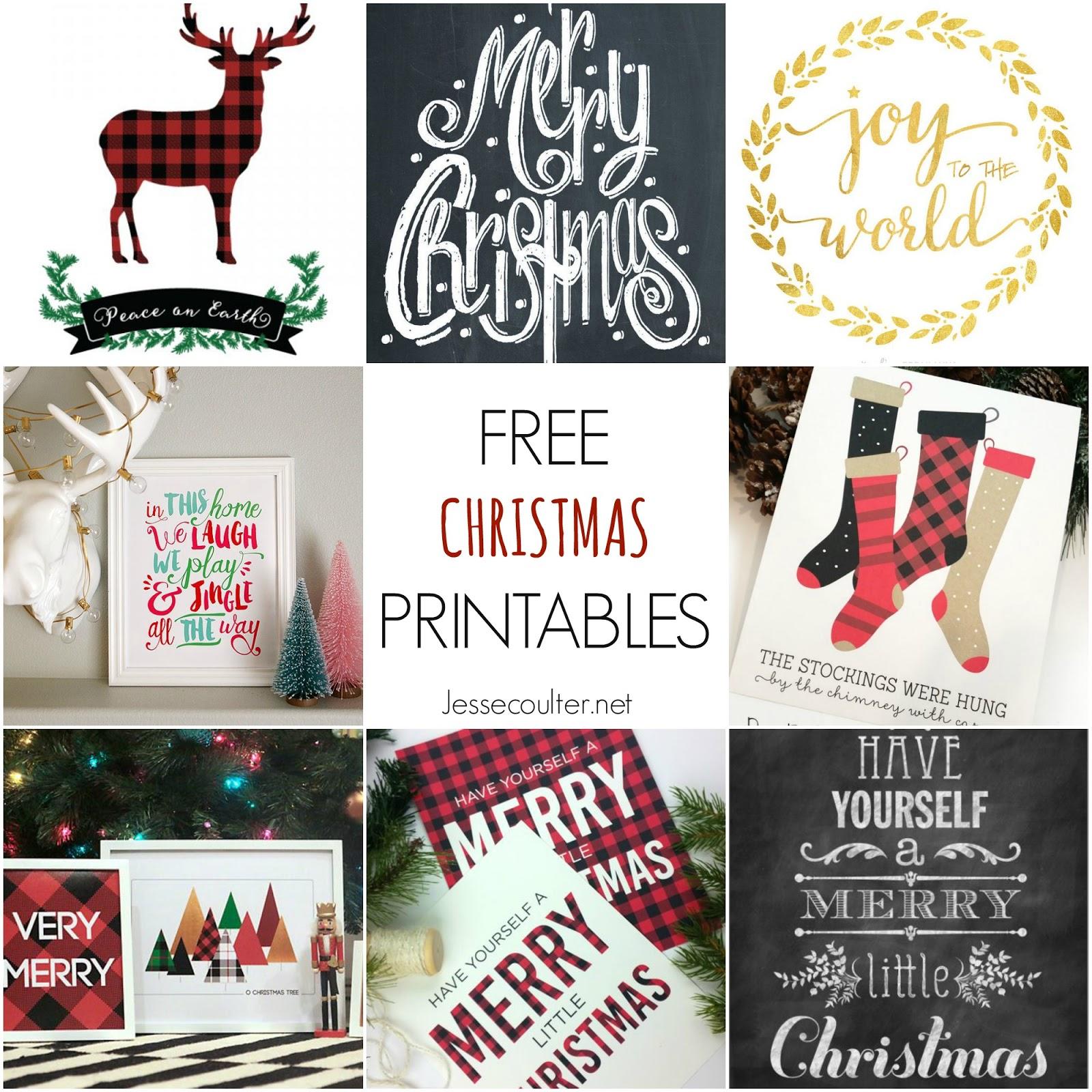 My Favorite Free Christmas Printables