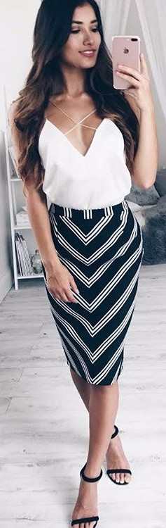 black & white office look