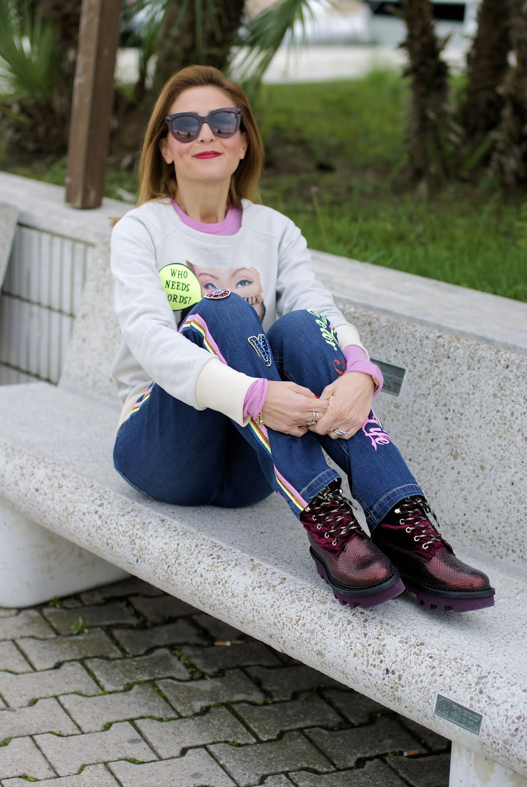 Teetopia Eye talk felpa and Barracuda shoes su Fashion and Cookies fashion blog, fashion blogger style