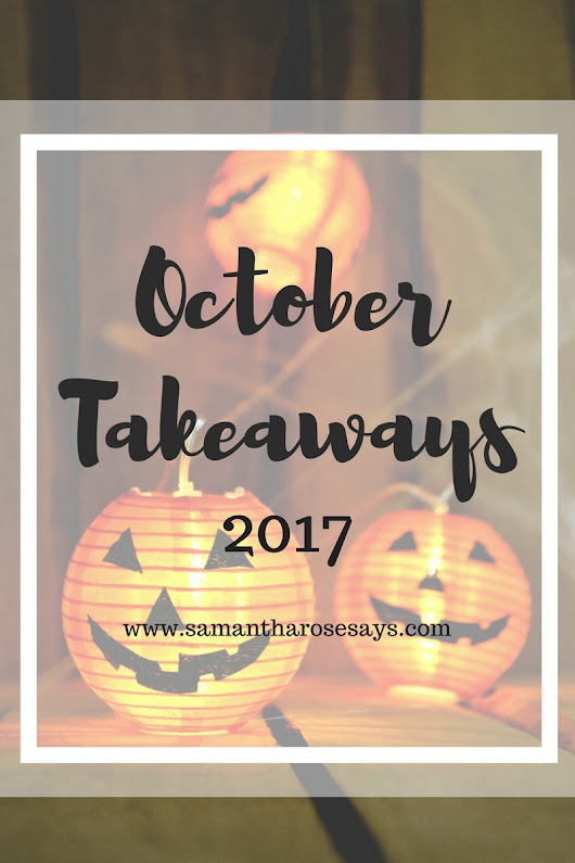 october takeaways