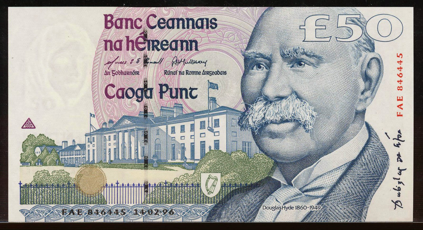 Republic of Ireland Banknotes Fifty Pounds Note