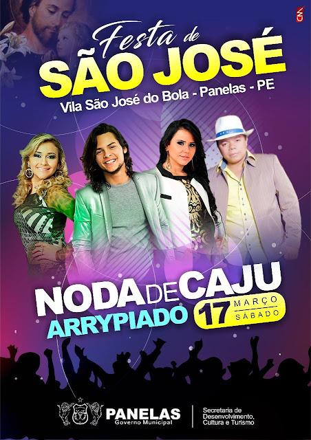 Cartaz da Festa de São José no distrito Bola em Panelas-PE